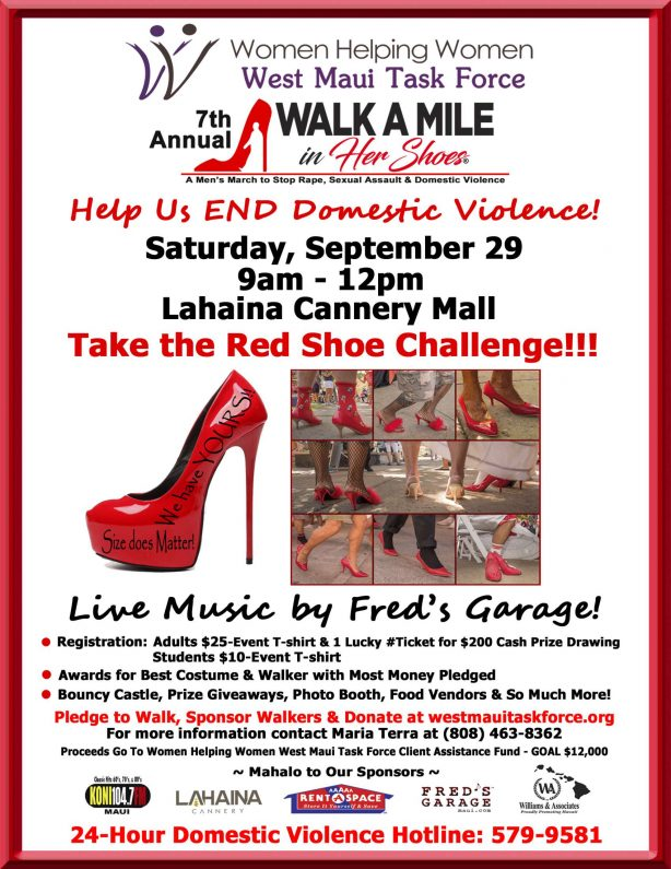Walk A Mile In Her Shoes flyer
